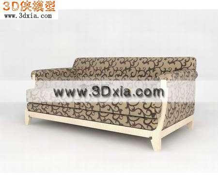 梁志天美兆家具玲珑系列三人沙发3D模型【ID:8226】