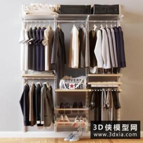男式衣服鞋子模型组合国外3D模型【ID:929331687】