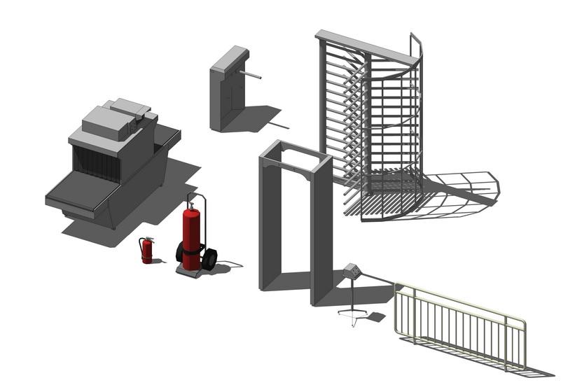 消防設備組合SU模型【ID:136442937】