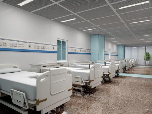 医院护理病房3D模型【ID:928177604】