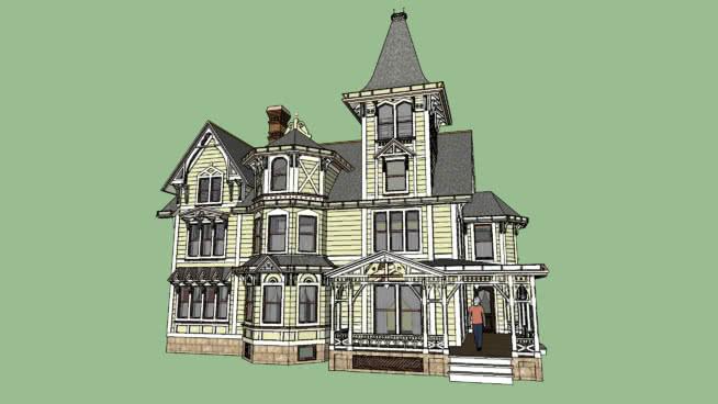 切斯通�f��@-�S多利��式哥特式住宅SU模型【ID:139969355】
