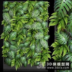 植物墻模型下載國外3D模型【ID:229321568】