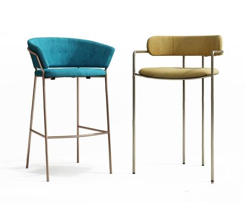 现代吧椅3D模型【ID:328248114】