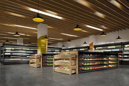 現代超市果蔬區3D模型【ID:120815747】