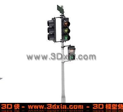 2+双3红绿灯模型下载3D模型【ID:831】