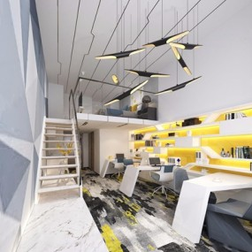 LOFT办公区卧室3D模型【ID:828099141】