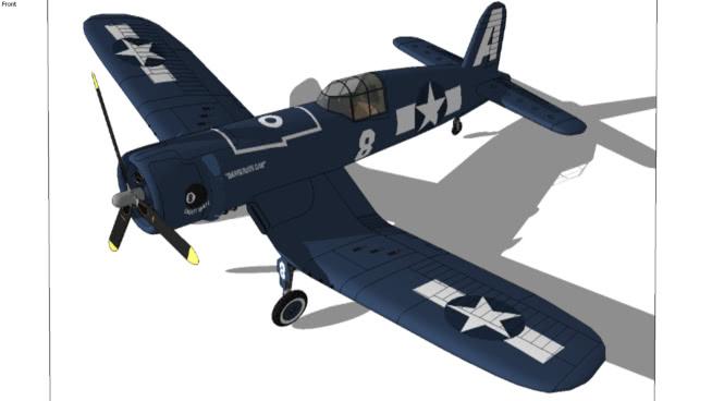 机会F4U-1海盗船第一部分(翼)SU模型【ID:839973519】