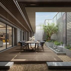 现代花园庭院3D模型【ID:928173011】