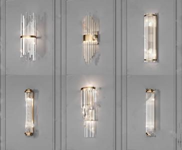 水晶壁燈組合3D模型【ID:742044925】