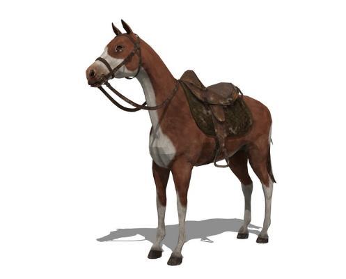 3D动物马SU模型【ID:345616859】