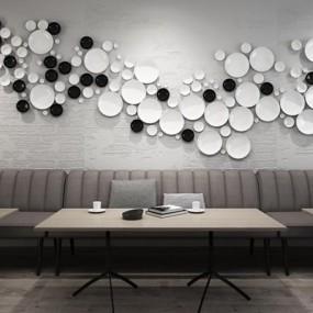 创意餐厅墙饰3D模型【ID:227877917】
