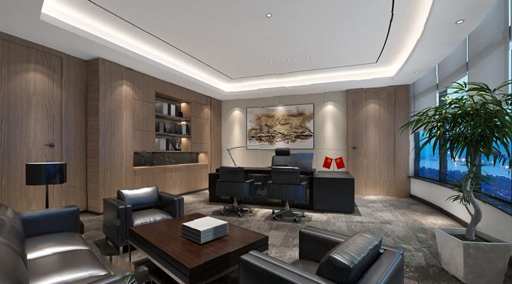 办公室3D模型【ID:920020570】
