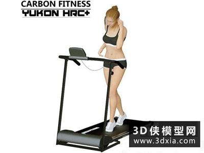跑步機國外3D模型【ID:129348863】