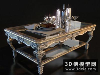 歐式茶幾國外3D模型【ID:829470115】