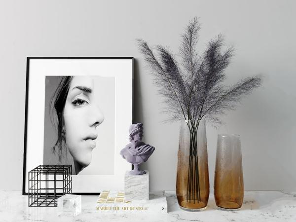 現代花瓶裝飾畫飾品擺件3D模型【ID:248245536】