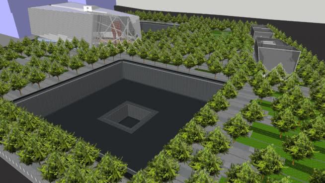 9/11纪念公园和博物馆SU模型【ID:139976397】