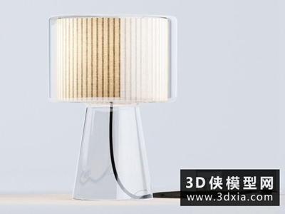 现代台灯国外3D模型【ID:829531907】