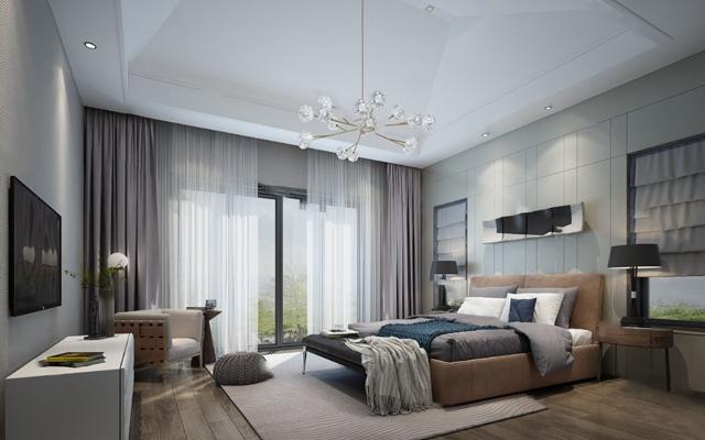 现代卧室3D模型【ID:124880373】