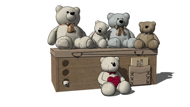 熊玩具SU模型【ID:639978730】