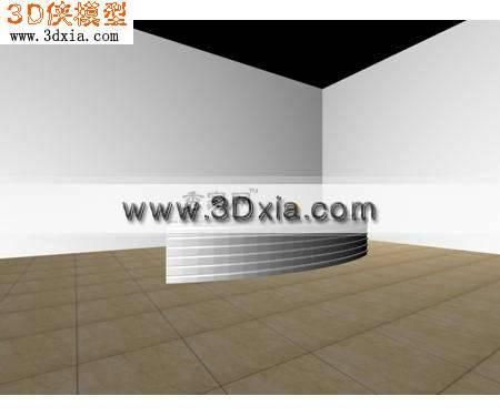 3D普通的接待台模型3D模型【ID:8486】