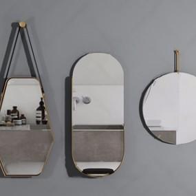 现代轻奢浴室镜3D模型【ID:128226798】