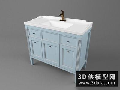 地中海洗浴柜國外3D模型【ID:129739045】