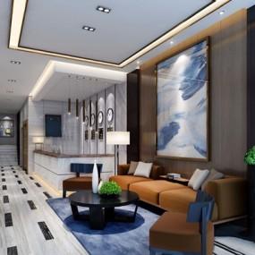 现代酒店大厅3D模型【ID:528037212】