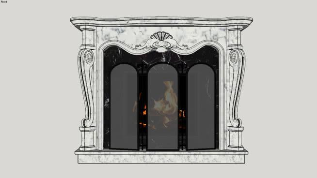 壁炉SU模型【ID:939979528】