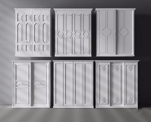 欧式衣柜3D模型【ID:928198907】