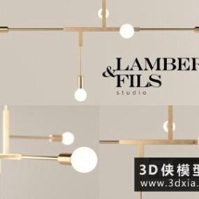 现代金属吊灯国外3D模型【ID:829735714】