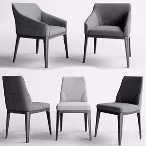 现代布艺单椅3D模型【ID:231398454】