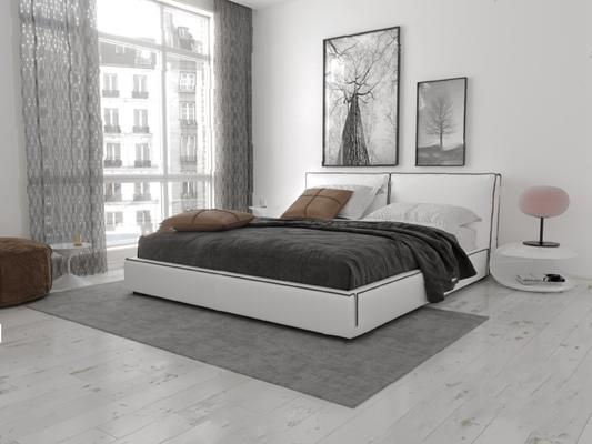 现代双人床3D模型【ID:726226019】