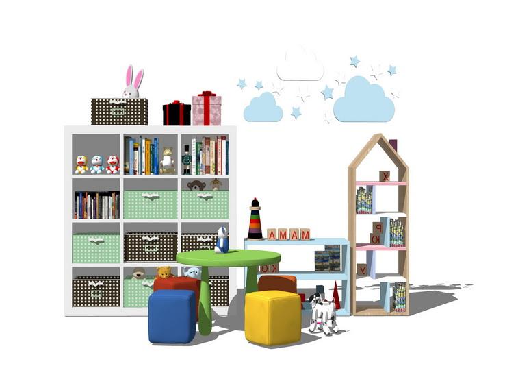 儿童家具组合SU模型【ID:136455364】
