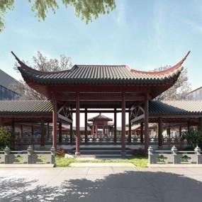 中式景观建筑3D模型【ID:528007647】