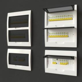 现代电箱总闸3D模型【ID:927820552】