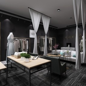 现代服装店3D模型【ID:527804414】
