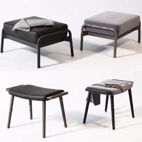 新中式凳子组合3D模型【ID:427987315】