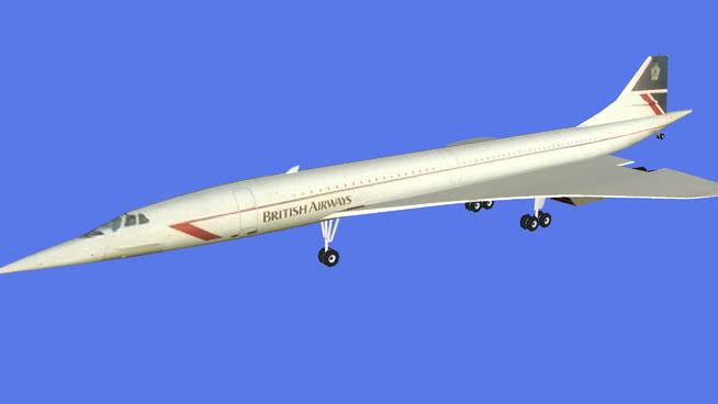 英国航空公司的协和SU模型【ID:839986552】