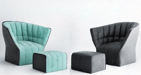 现代懒人沙发3D模型【ID:635926946】