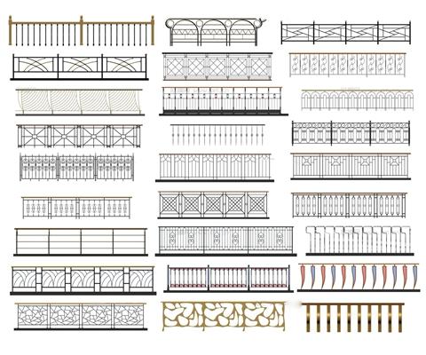 欧式金属栏杆护栏3D模型【ID:86854750】