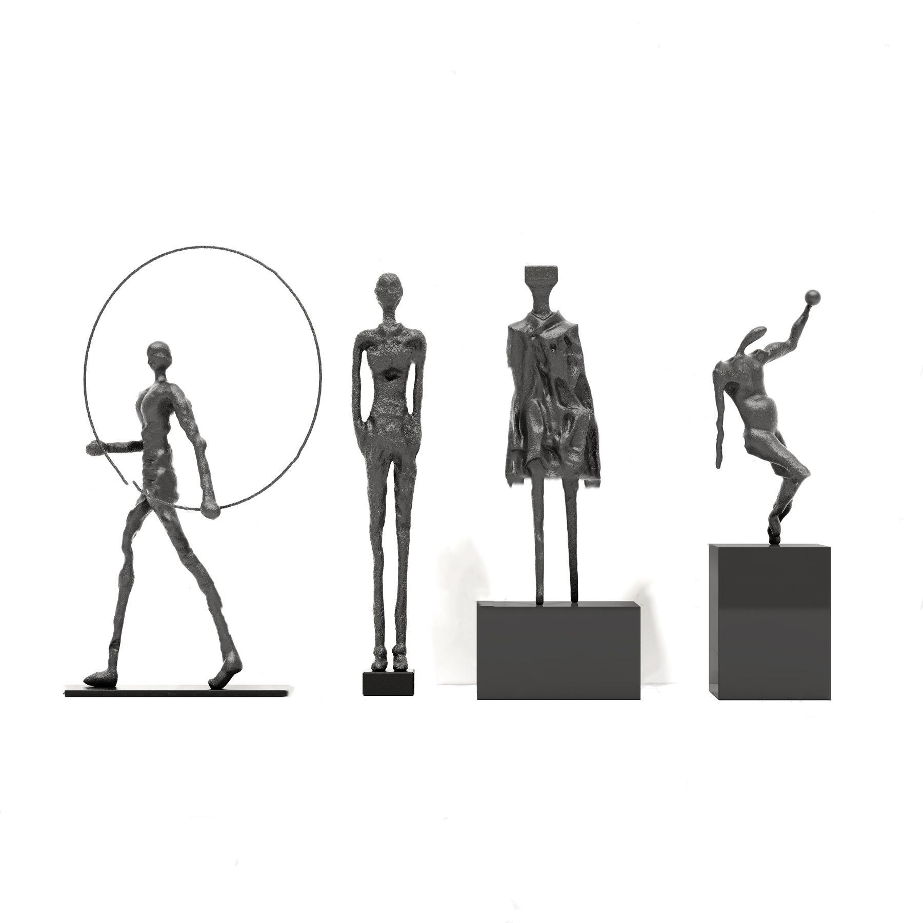 现代人物雕塑摆件3D模型【ID:343274164】