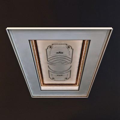 欧式风格吊顶石膏线石膏线3D模型【ID:86894146】