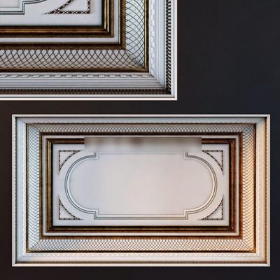欧式风格吊顶石膏线石膏线3D模型【ID:86895044】