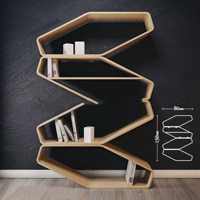 现代简约实木书架置物架现代简约3D模型【ID:86906097】