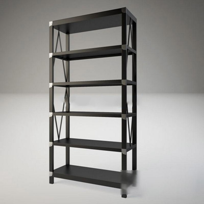 新中式书架后现代简易置物架新中式3D模型【ID:86926993】