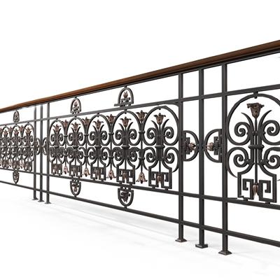 欧式铁艺栏杆护栏3D模型【ID:86987955】