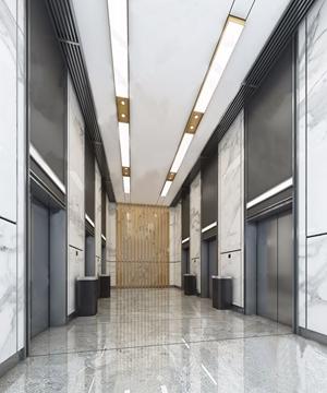 現代電梯間3D模型【ID:431432865】