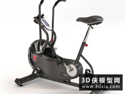 健身自行車模型國外3D模型【ID:129348890】