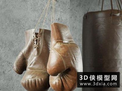 拳擊手套國外3D模型【ID:129348838】