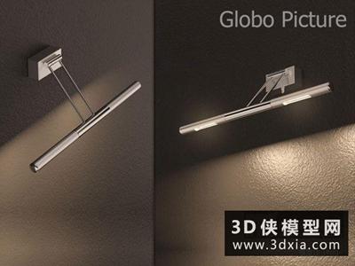 現代鏡前燈國外3D模型【ID:829612859】